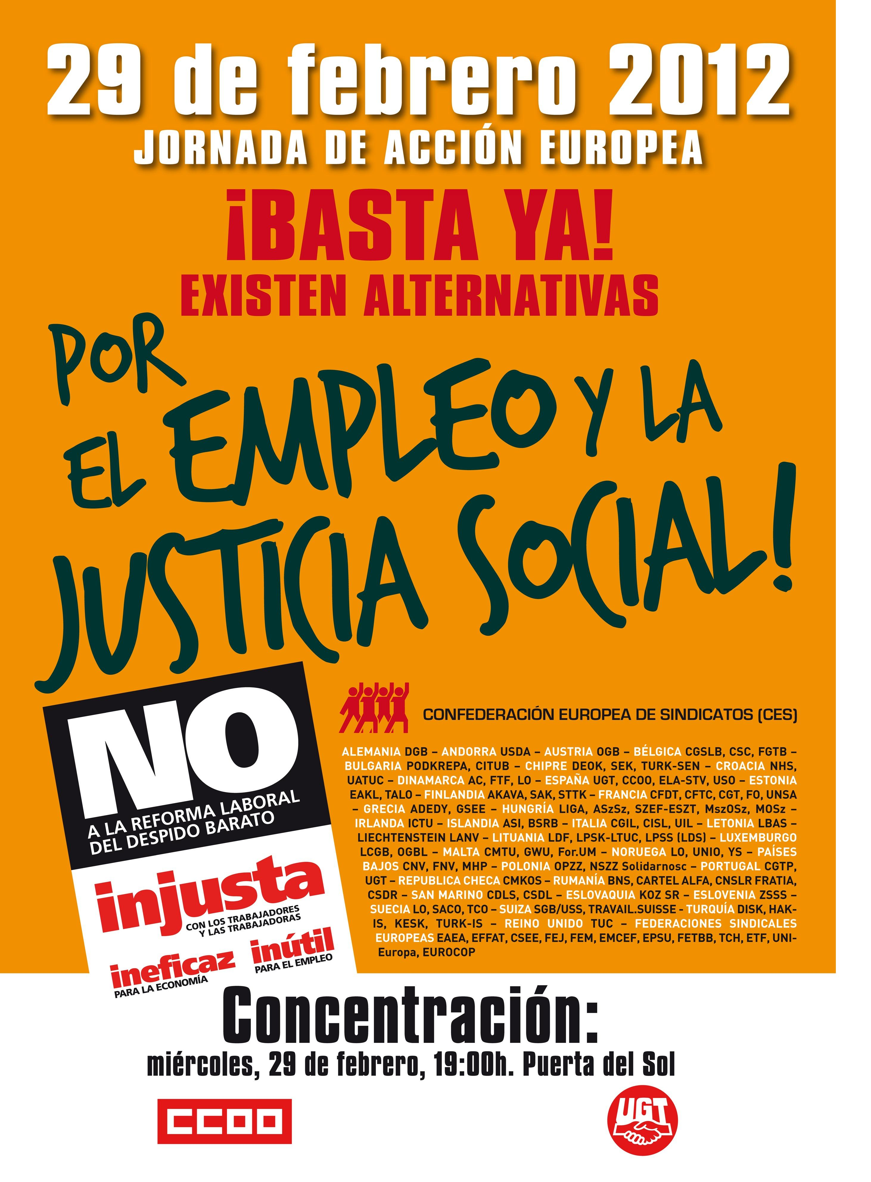 Por el Empleo y la  Justicia Social 29 02 12