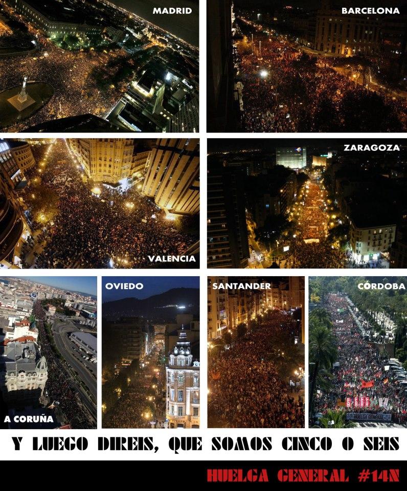 Manifestaciones 14N principales ciudades
